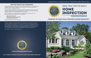 Certified Master Inspector® custom book cover