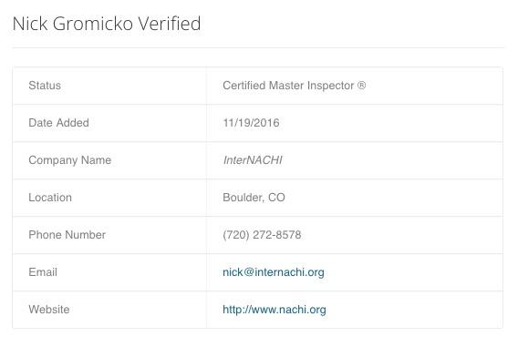 nick-gromicko-certified-master-inspector-verified