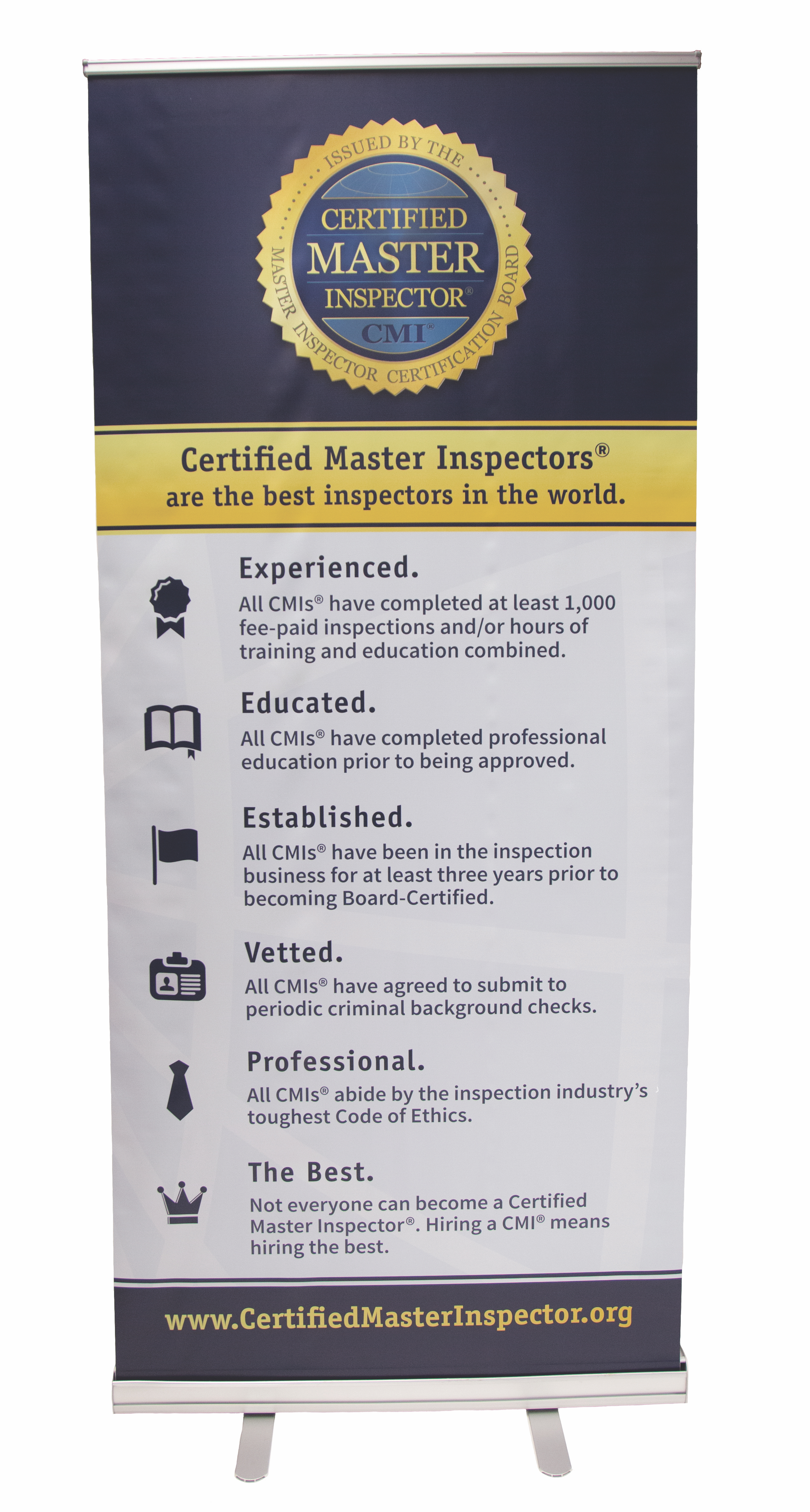Free Certified Master Inspector Banner Stands For Events