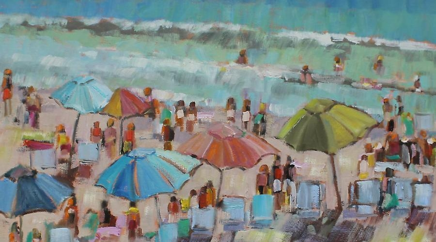 """Fun in the Sun"" by Libby Smart 30""x30"" oil on canvas"