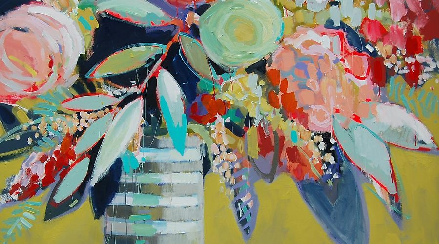 """Language of flowers VI"" by Erin Gregory 48""x60"" oil on canvas"