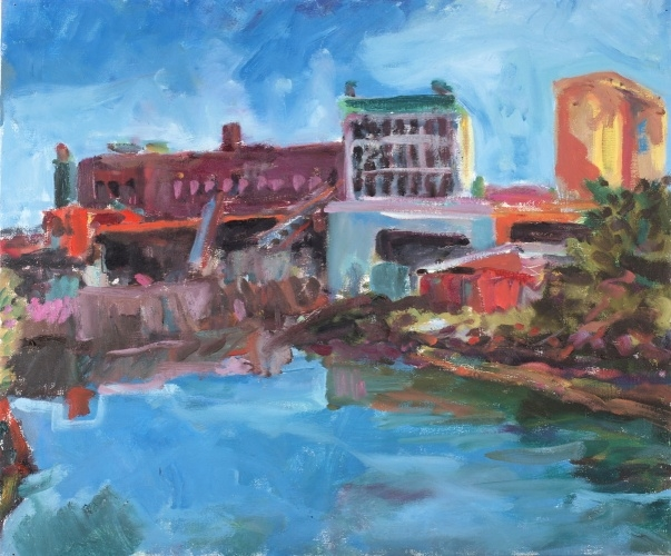 John Cunningham | Gowanus Canal, Brooklyn | Oil on canvas | 20 x 24 inches