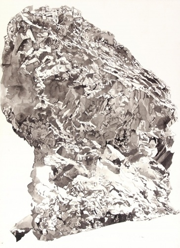 Rebecca Bird | Boulder | 2013 | Ink on Paper | 30 x 22 inches