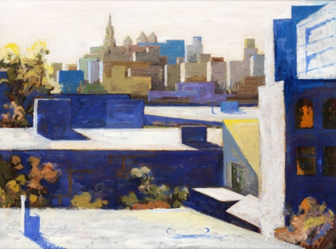 Anthony Brownbill | Brooklyn Rooftops | Oil on Canvas | 24 x 32 inches
