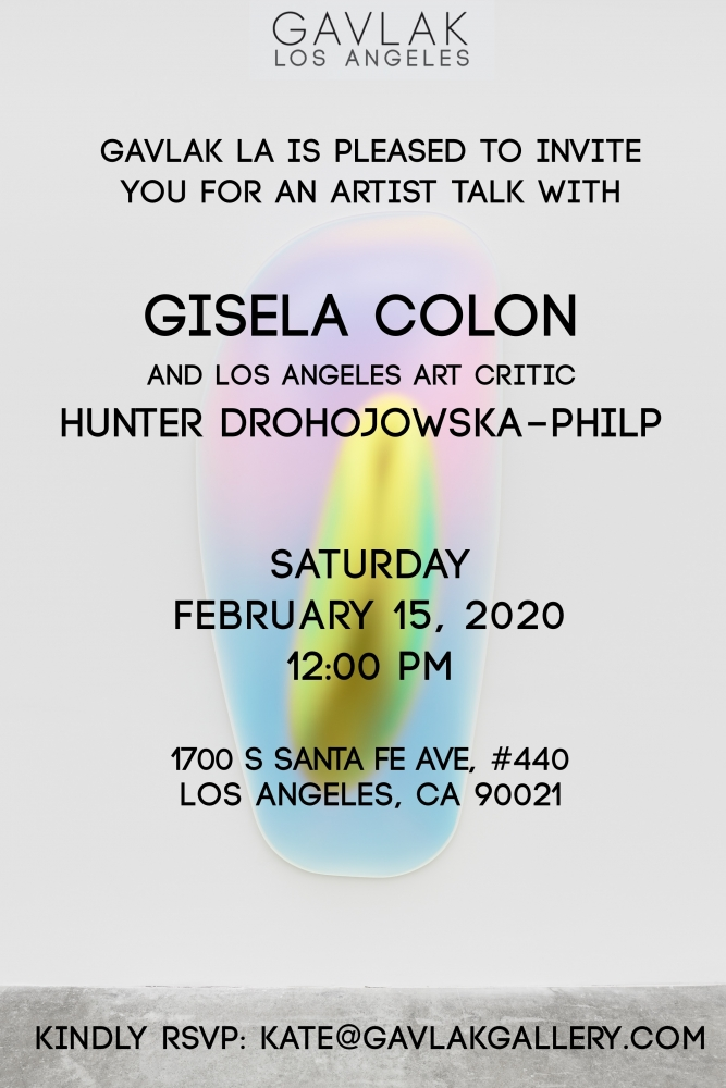 Artist Talk: Gisela Colon in Conversation with Hunter Drohojowska-Philp