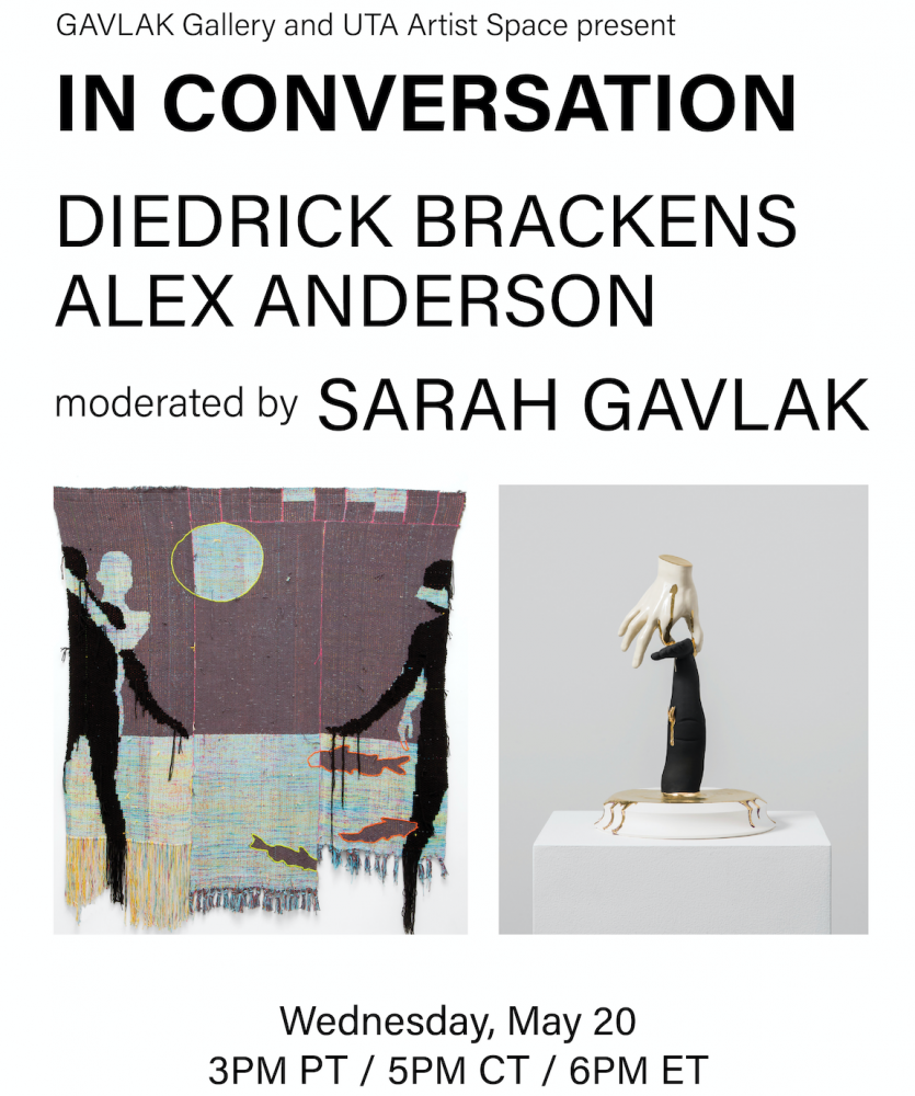 In Conversation: Alex Anderson & Diedrick Brackens | LIVE Wednesday, May 20th