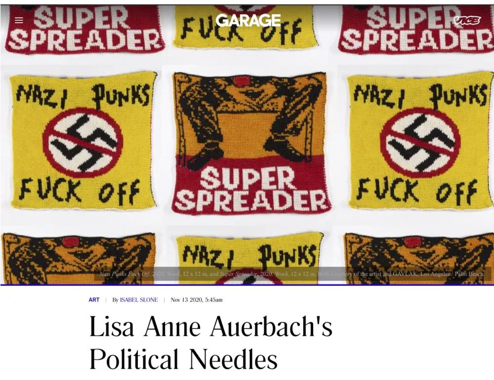 Lisa Anne Auerbach's Political Needles
