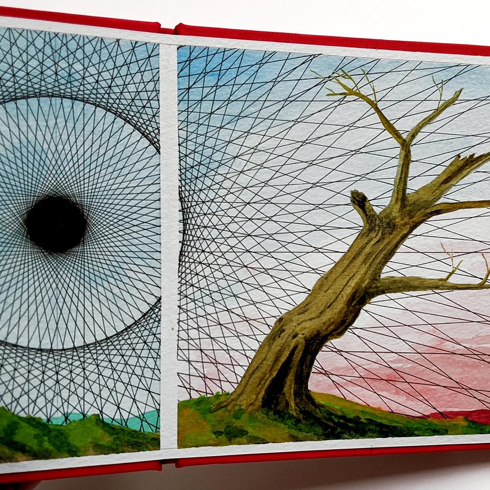 Jon Cowan hand-painted artist book