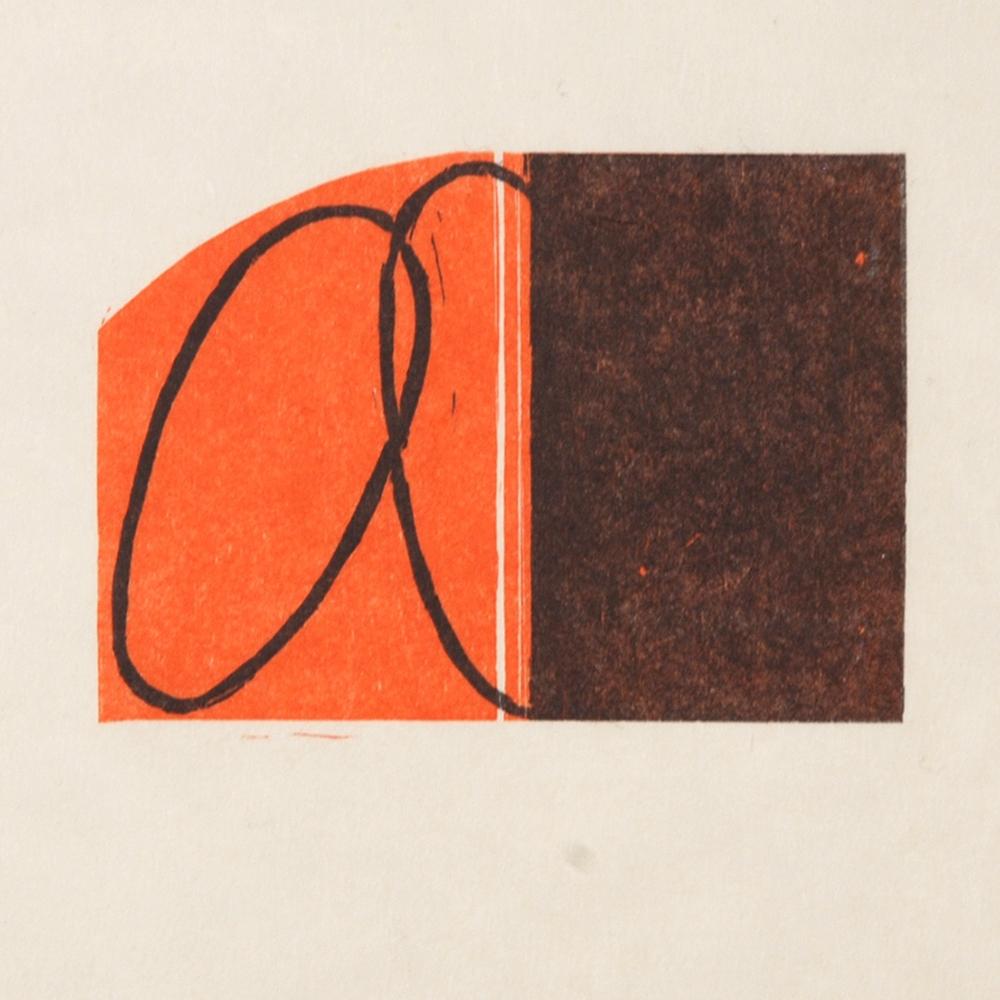 Robert Mangold Untitled F woodcut