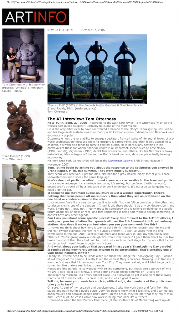 The AI Interview: Tom Otterness