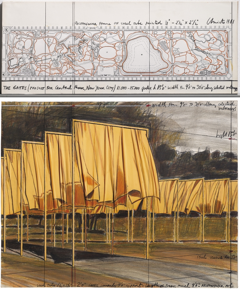 "Christo_The Gates (Project for Central Park, New York City), 1981 (33"" x 28"") - Casterline
