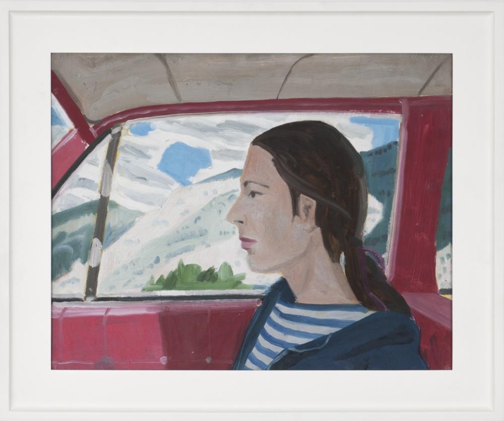 "Alex Katz_Impala (Study), 1968 (15 3:4"" x 20"") Framed - Casterline|Goodman Gallery.jpg"