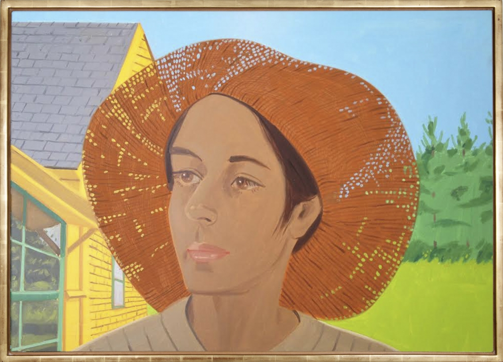 "Alex Katz_Orange Hat 1 (Ada), 1973 (34"" X 48"") - Casterline