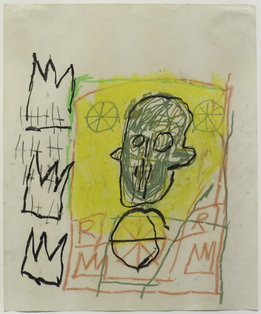"Jean-Michael Basquiat_Untitled, 1981 (18"" x 14 1:2"") - No Frame-Casterline