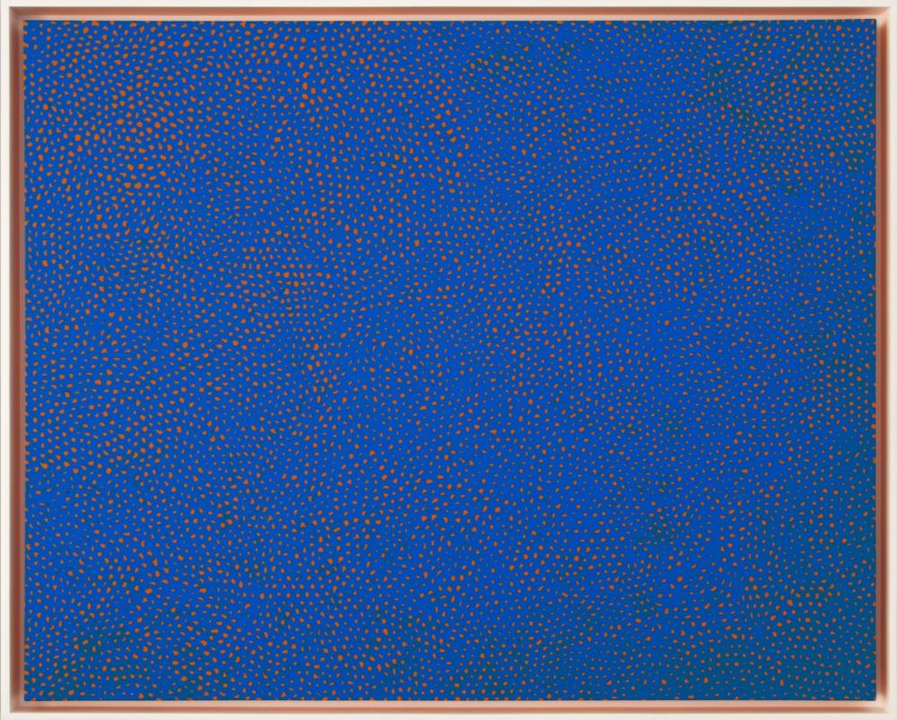 "Yayoi Kusama_Infinity-Nets RBKT, 2014 (51 1:8"" x 63 3:4"")-Casterline|Goodman Gallery.jpg"