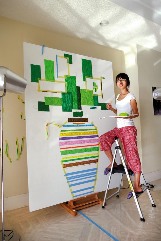 Zheyna Xia with Gallerist Philippe Hoerle-Guggenheim