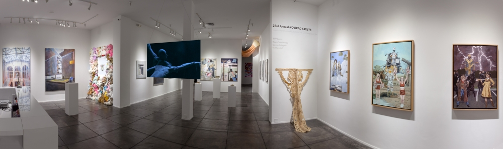 'No Dead Artists' exhibit by emerging artists offers dreamy visions ripe with social comment