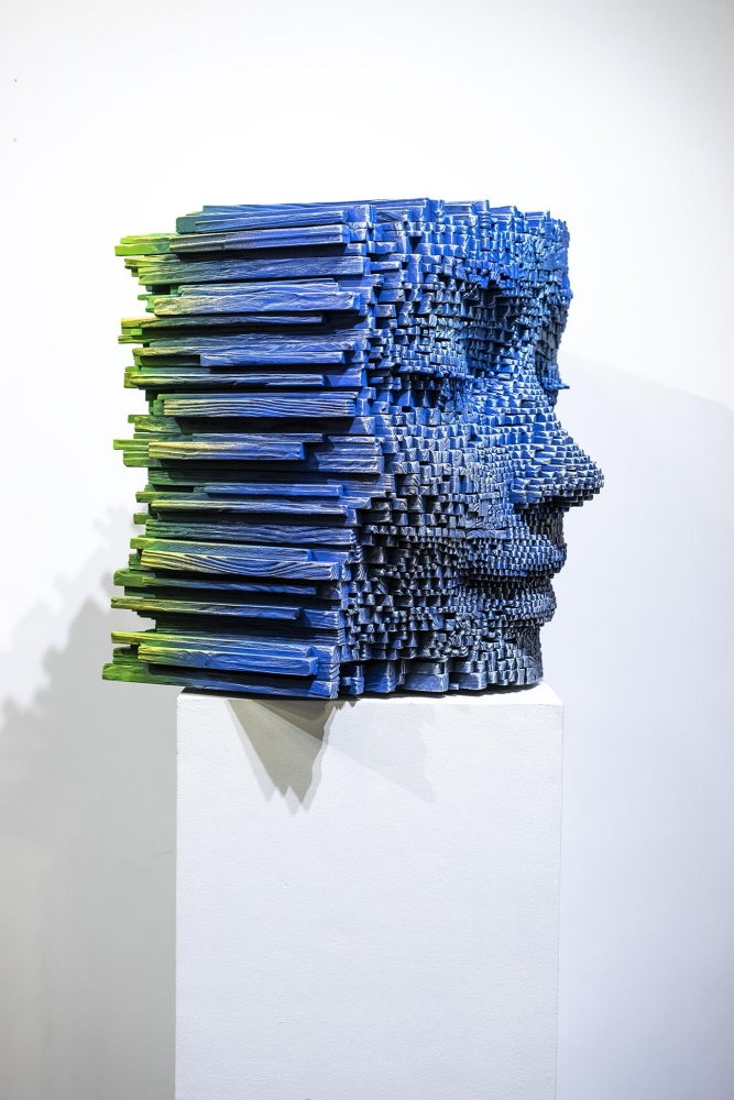 """HEADS WILL TURN FOR GIL BRUVEL'S """"BENDING THE LINES"""" @ LA ART SHOW MODERN & CONTEMPORARY, 2019"""