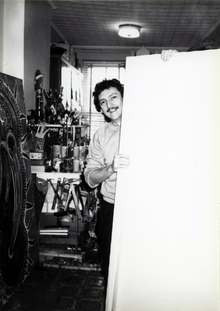 First Studio Visit with Luis Cruz Azaceta