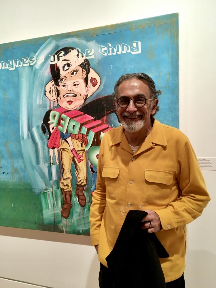 Enrique Chagoya at the Triton Museum of Art, Santa Clara, CA, 2020.