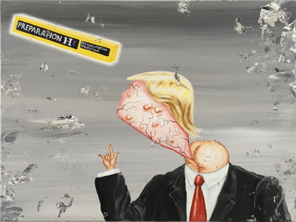 Enrique Chagoya, 'Bathroom Painting,' 2018.