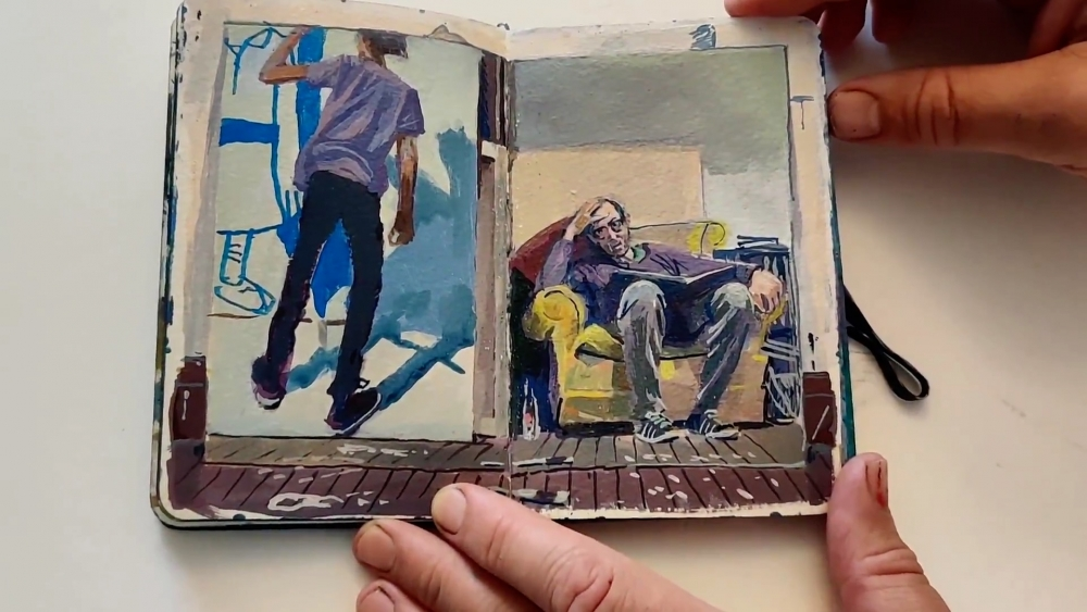 Andrew Lenaghan page from sketchbook 2020