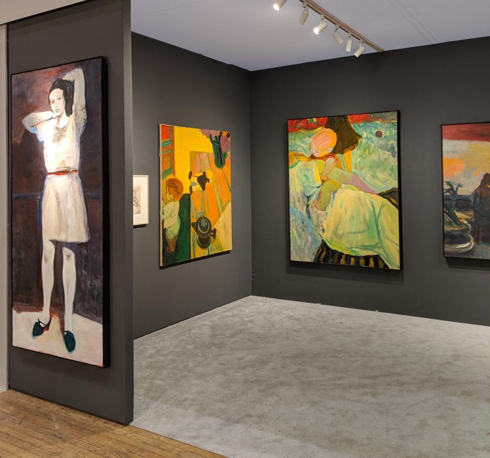 Installation view, Elmer Bischoff, ADAA The Art Show, George Adams Gallery, New York, 2019.