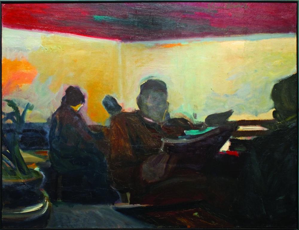 Elmer Bischoff, the Waiting Room 1954