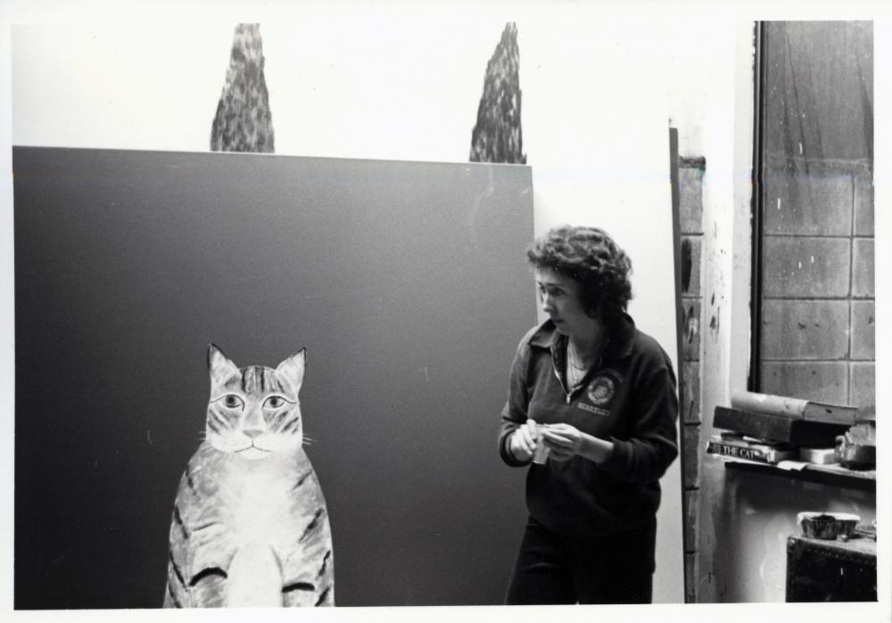 Joan Brown in her Studio, 1980