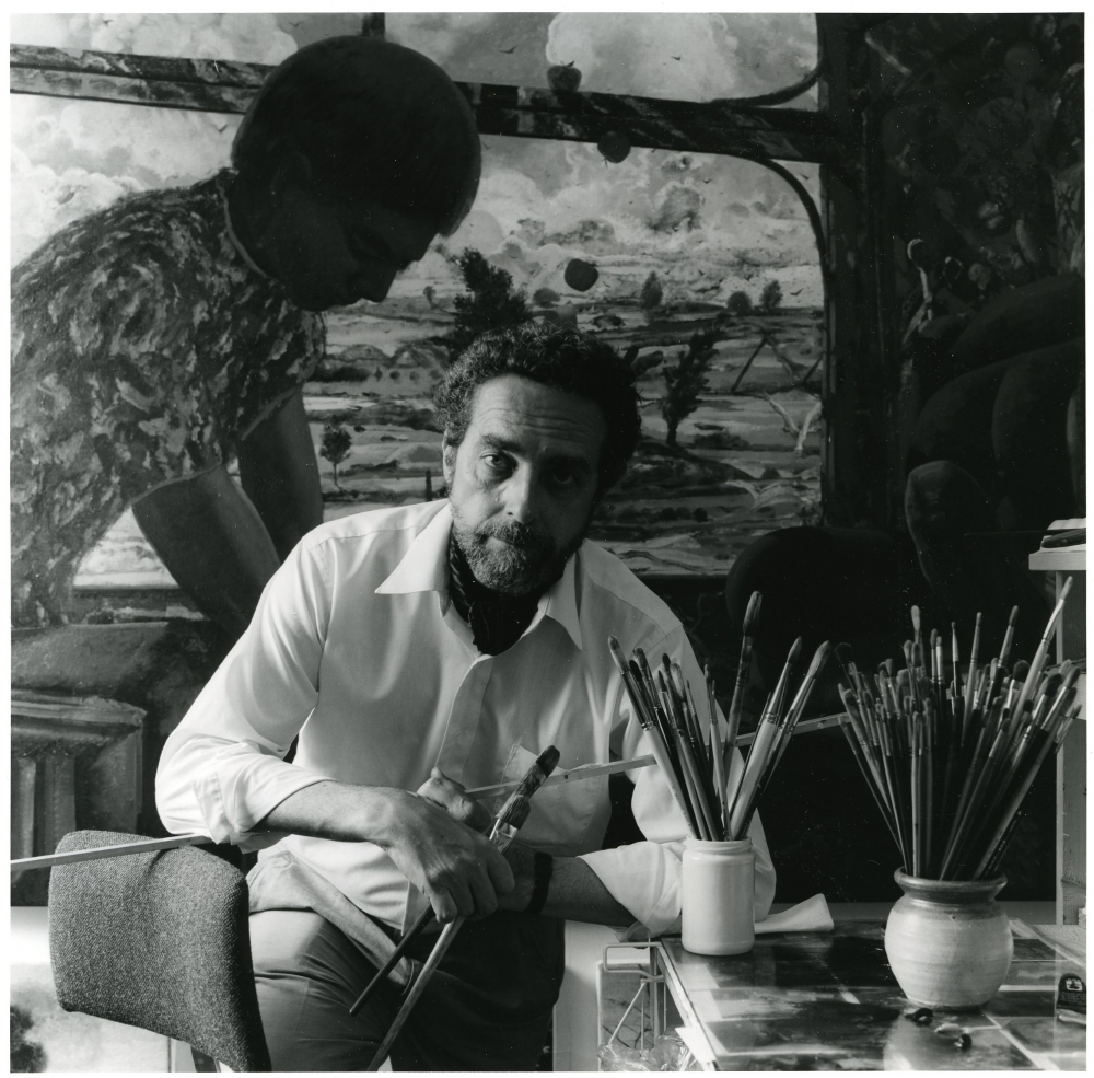 James McGarrell in his studio, c. 1992.