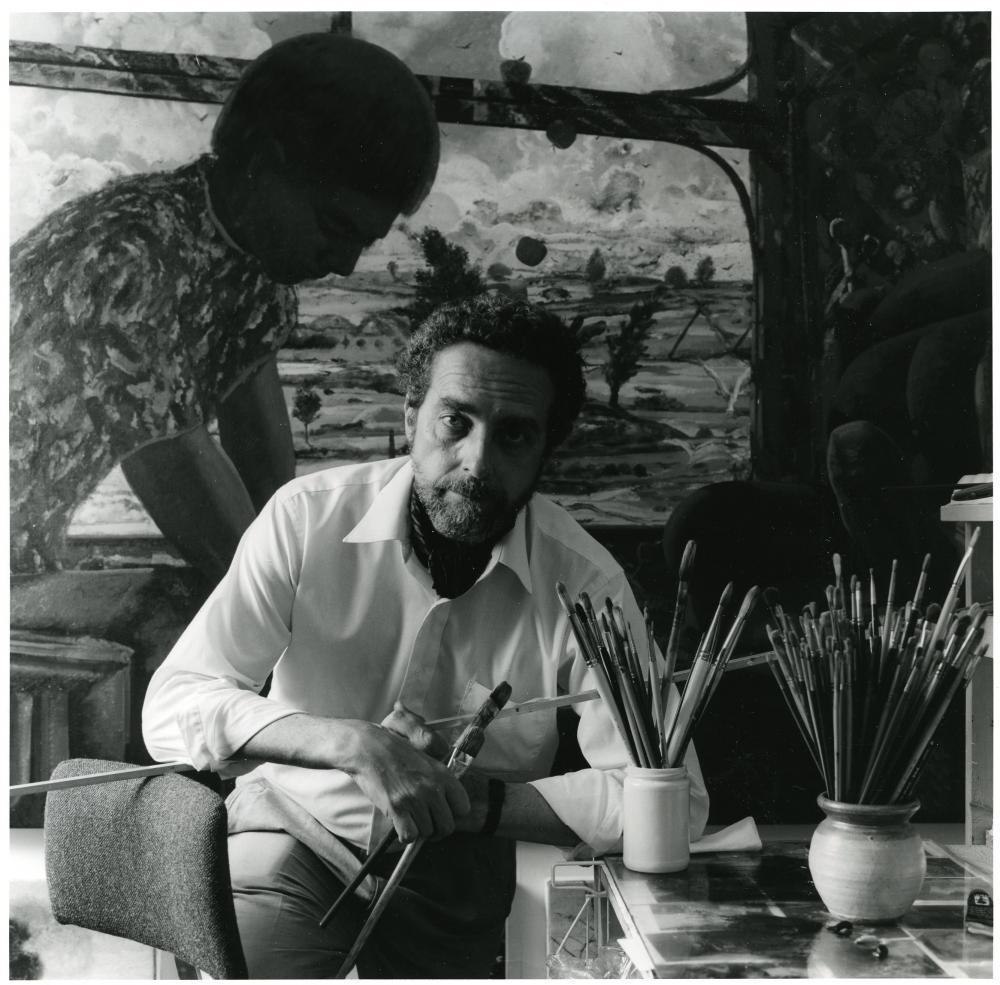 James McGarrell in his studio, c. 1992.
