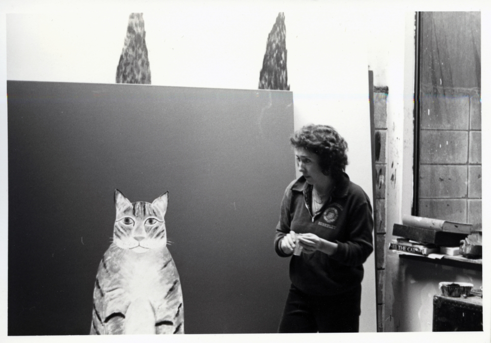 Joan Brown in her studio 1980