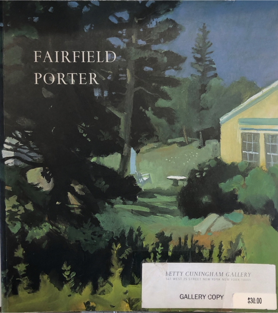Image of Fairfield Porter Catalogue