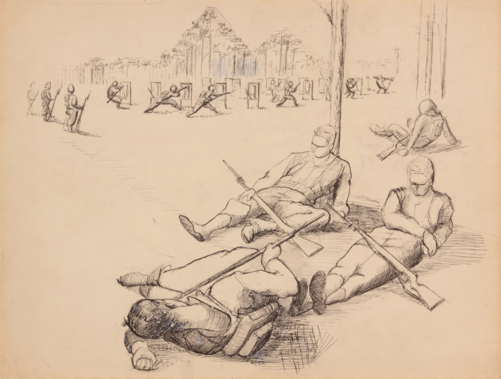 THE MORGAN RECEIVES UNIQUE COLLECTION OF WORLD WAR II DRAWINGS AND SKETCHES BY PHILIP PEARLSTEIN