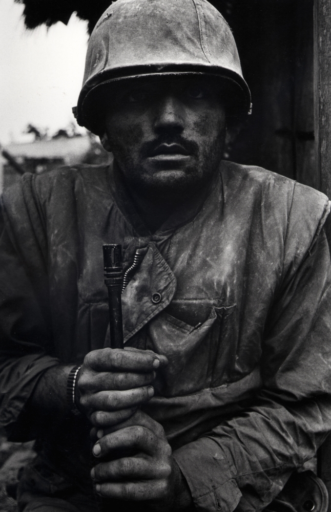 Don McCullin, Shell Shocked Marine, Vietnam, Hue, 1968, Howard Greenberg Gallery, 2019