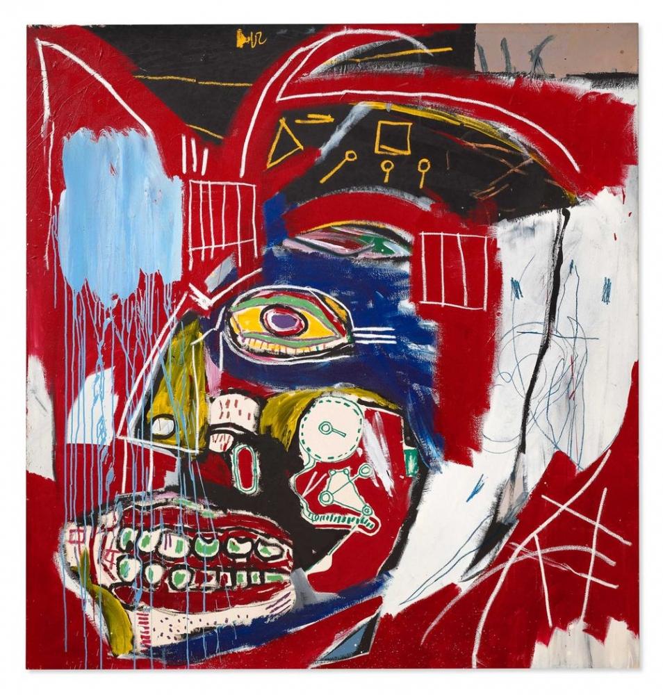 Bloomberg   Billionaires Pump Up Basquiat With $93.1 Million Christie's Sale