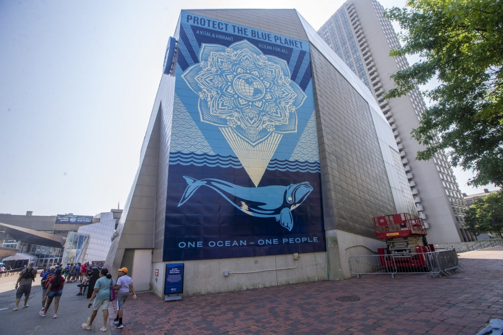 WBUR News   From Obey Giant To Oceans, Shepard Fairey On His First Permanent Mural In Boston