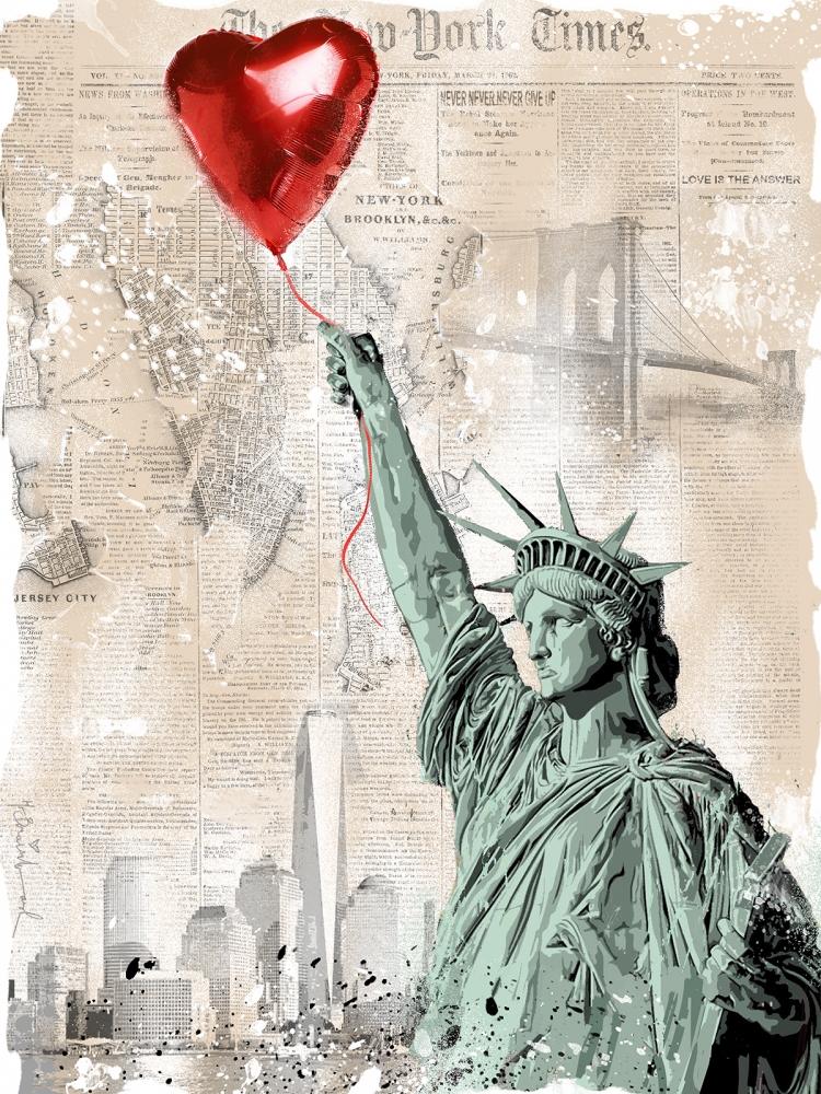 """Art for Relief   Mr. Brainwash, """"Heart & Soul"""""""