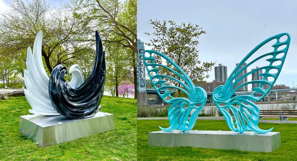 TIMEOUT | Rubem Robierb sculptures at Randall's Island