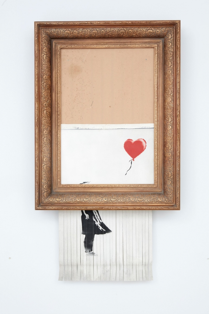 THE ART NEWSPAPER | Banksy's £1m self-destructing painting goes back to auction