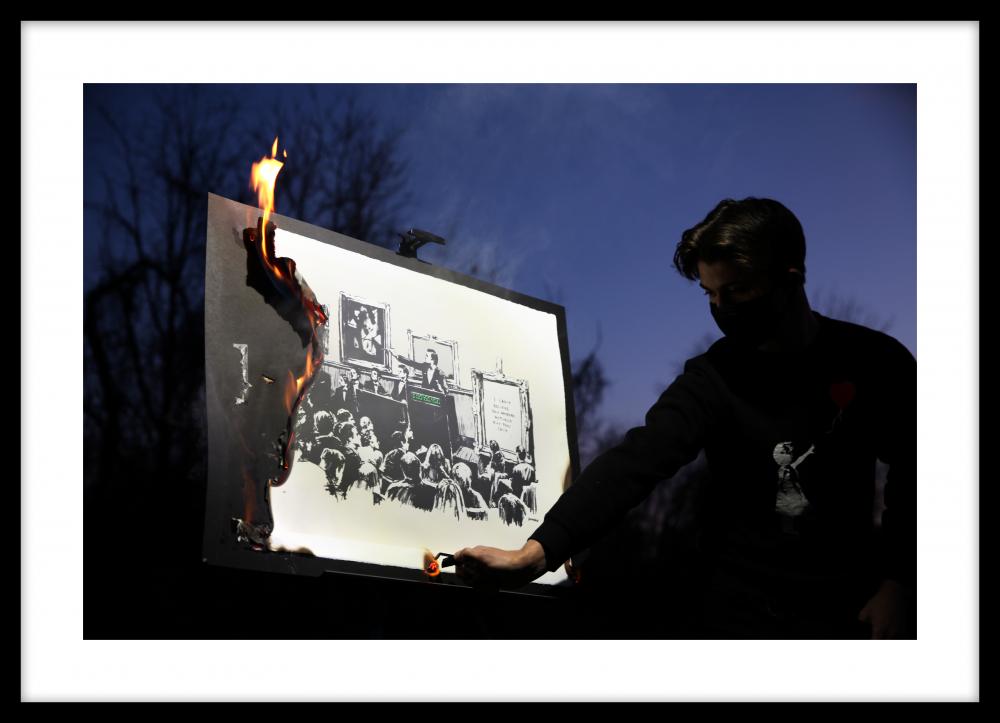 THE NEW YORKER   Burnt Banksy's Inflammatory N.F.T. Not-Art