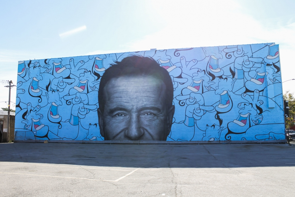 Jerkface Mural Honoring Robin Williams goes up in Chicago