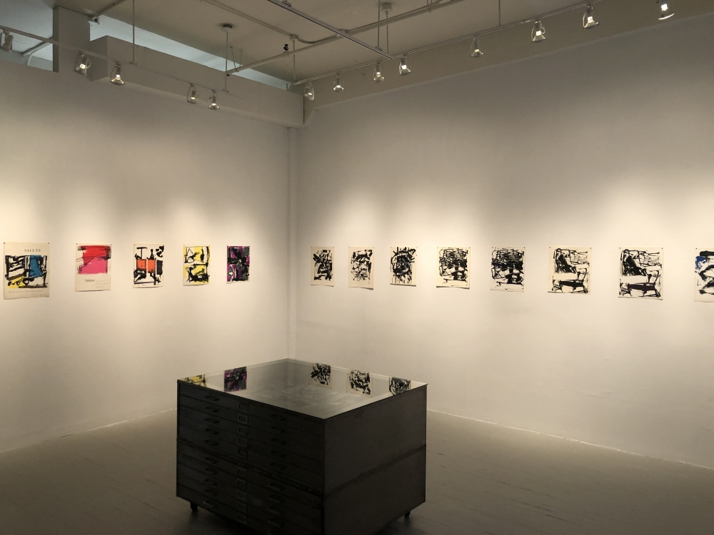 3D View of the Current Exhibition; Joan Mitchell and Grace Hartigan at Tiber Press