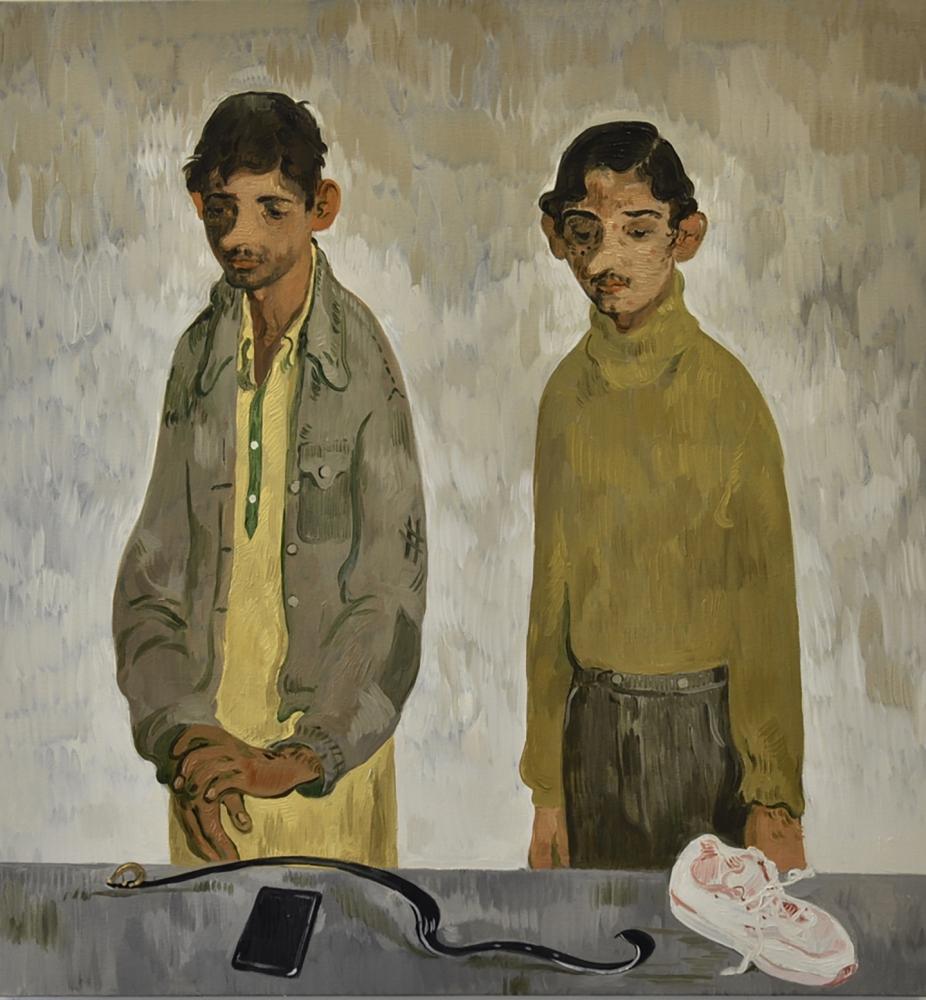 Toor painting Immigration Men
