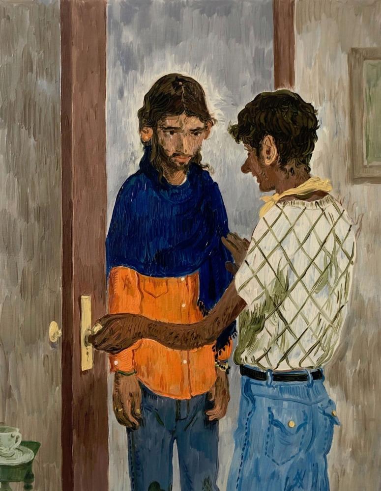 Toor painting of 2 men