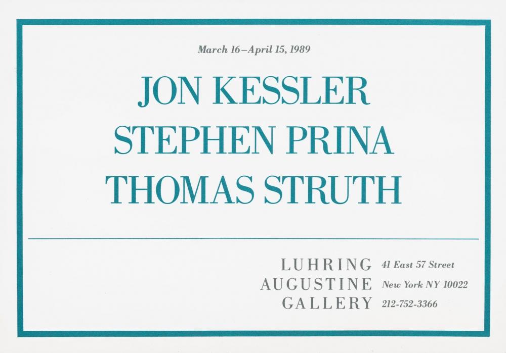 Jon Kessler, Stephen Prina, Thomas Struth