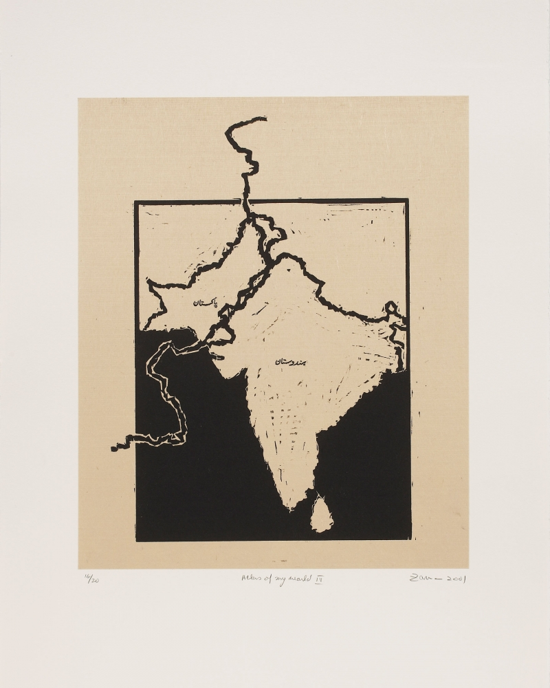 "Zarina in ""Homelands: Art from Bangladesh, India and Pakistan"""