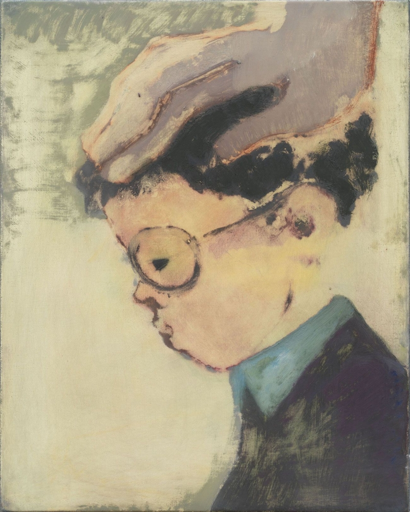 Kantarovsky portrait painting of a boy