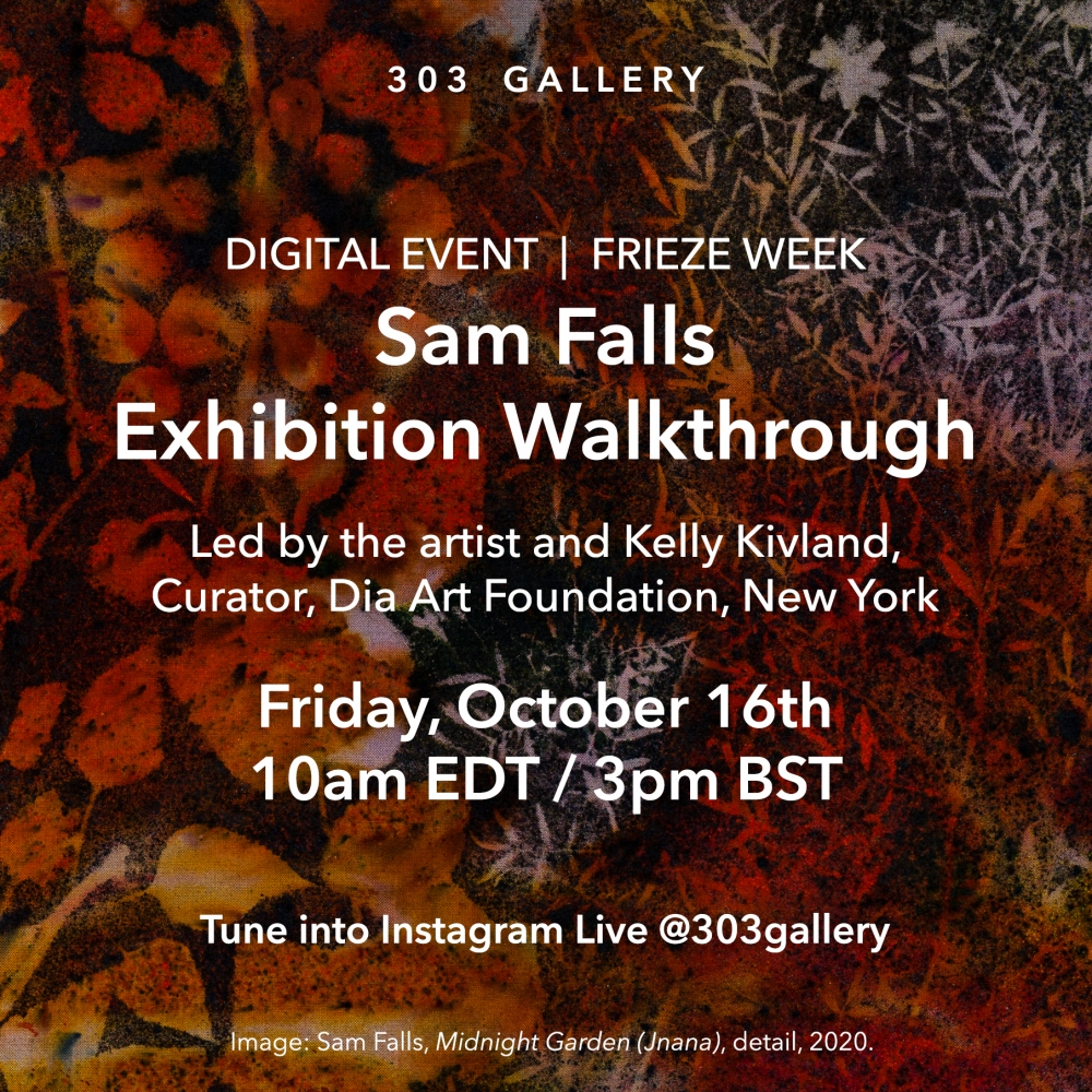 Instagram Live : Sam Falls & Kelly Kivland | Exhibition Walkthrough