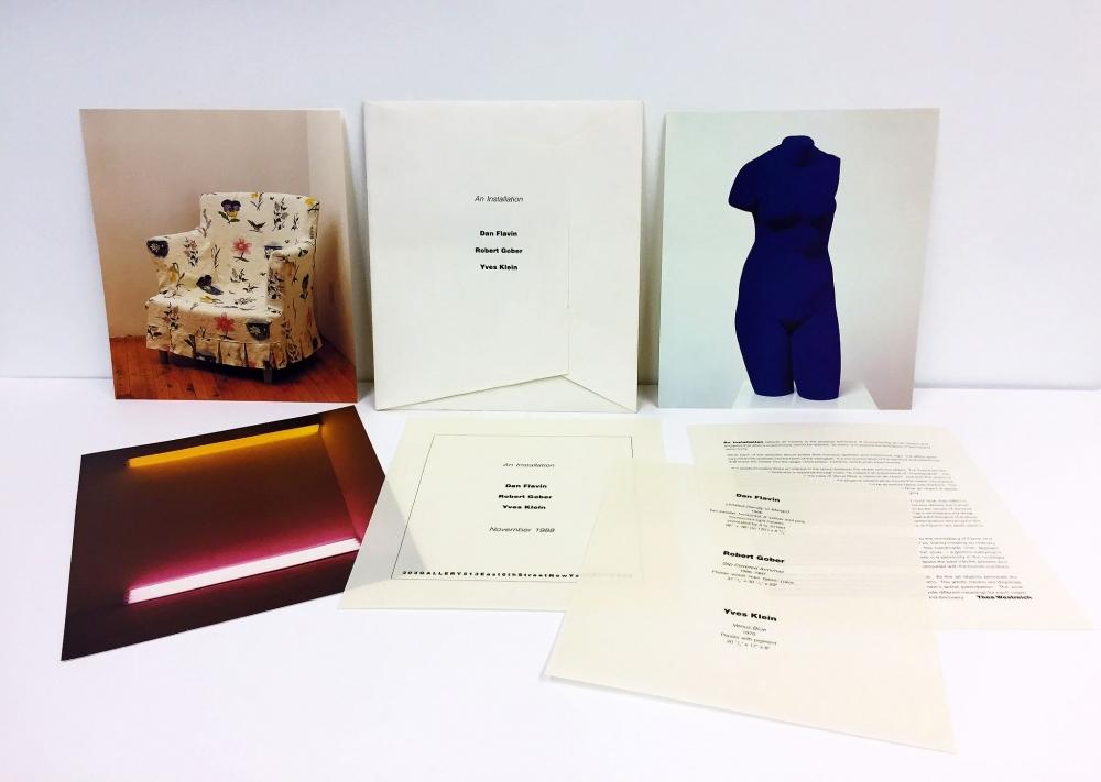 Dan Flavin, Robert Gober, Yves Klein, An Installation